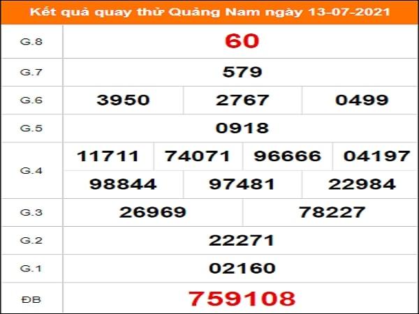Quay thử Quảng Nam ngày 13/7/2021 thứ 3
