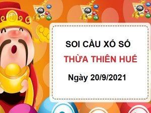 Soi cầu XSTTH ngày 20/9/2021 chốt số Thừa Thiên Huế thứ 2